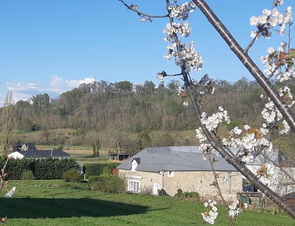 l'extérieur-du-The-Cottage-aux-Gîtes-de-Bernet,-Monein,-Béarn-France